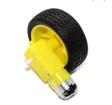 Умный автомобиль робот пластиковые колеса шины с DC 3-6V мотор-редуктор Mayitr DIY хорошая прочность умный автомобиль шасси комплект