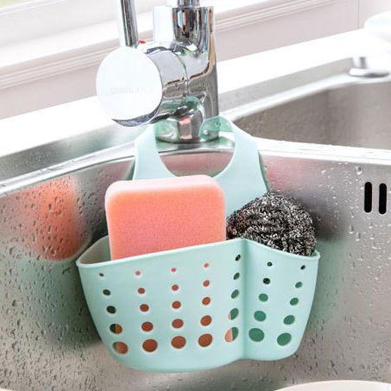10*9*7cm Double Kitchen Sink Holder Sponge Hanging Drain Bag Basket Organizer