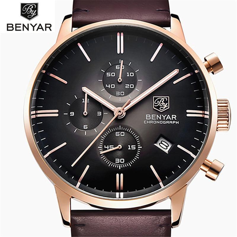 Zegarki mężczyźni luksusowa marka Casual zegarek kwarcowy zegar mężczyźni zegarki sportowe męskie skórzane wojskowe zegarek na rękę Relogio Masculino 2019 w Zegarki kwarcowe od Zegarki na  Grupa 1
