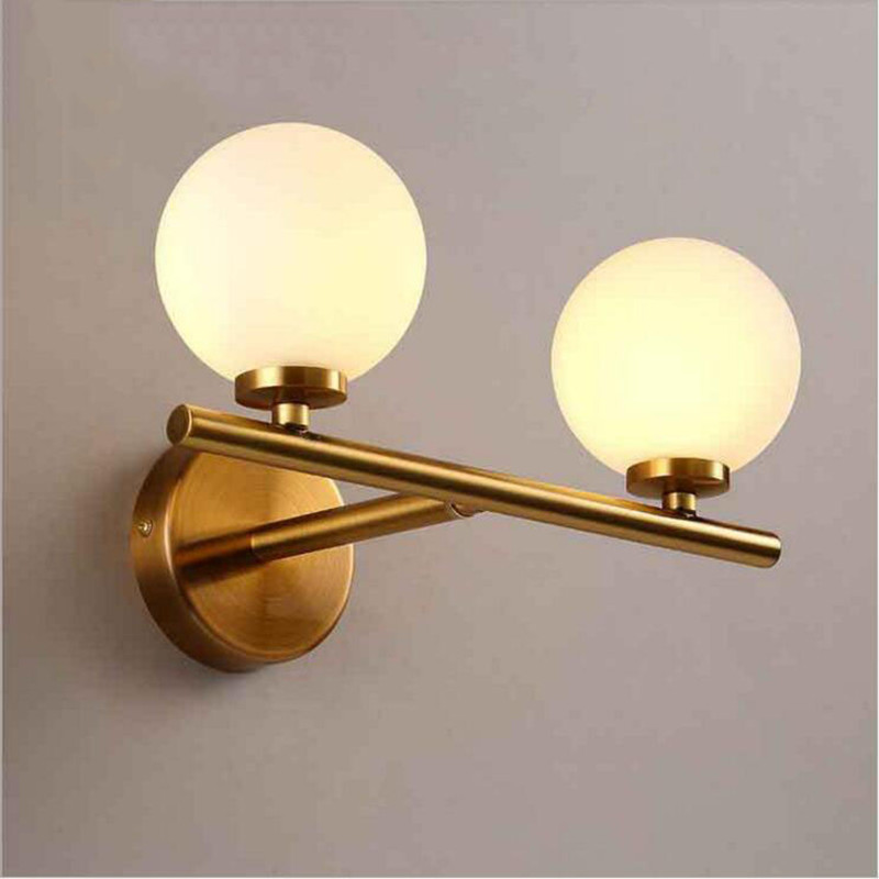 Nordic Modern LED Glass Ball Wall Lamp White Ball Magic Bean Lights Indoor Home Lighting Sconce for Bedroom Aisle Living Room modern wall lamp glass ball led wall sconces bedside wall light fixture bedroom luminaria home lighting vintage lamp