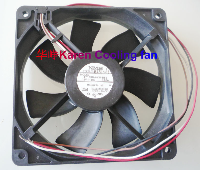 New Original for NMB 4710SB-04W-B86 DC12V 0.86A 120*120*25MM 12cm 4 wires Cooling fan nmb new and original fba09a12m 9025 9cm 12v 0 2a chassis silent cooling fan 90 90 25mm
