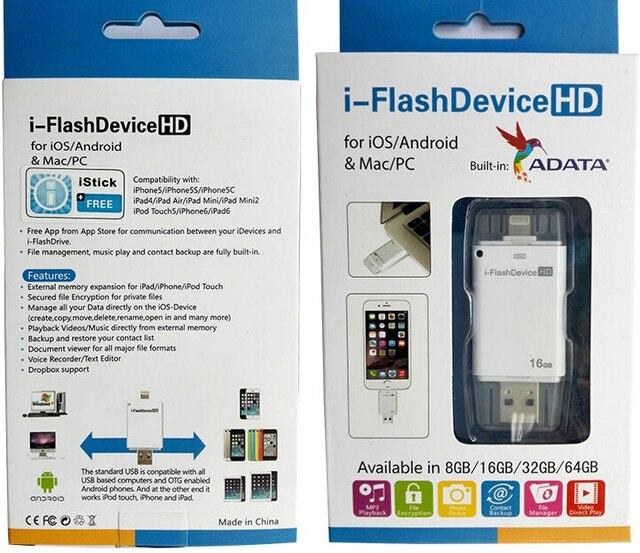 Мобильный Телефон USB Флэш-Диск Для iphone 5/5s/6/6 с USB Flash Drive Высокоскоростной USB 2.0 OTG Pen Drive 64 ГБ 32 ГБ 16 ГБ 8 ГБ
