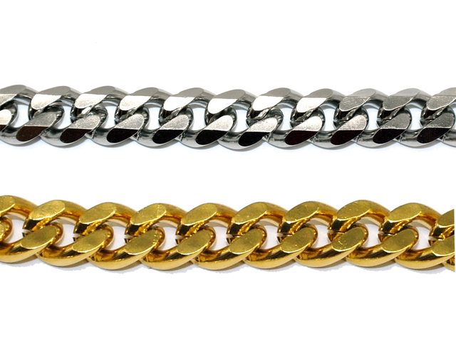3mm Diameter Dog Choke Chain Choker Collar Strong Silver Gold Chrome Steel Metal Training 45cm Length