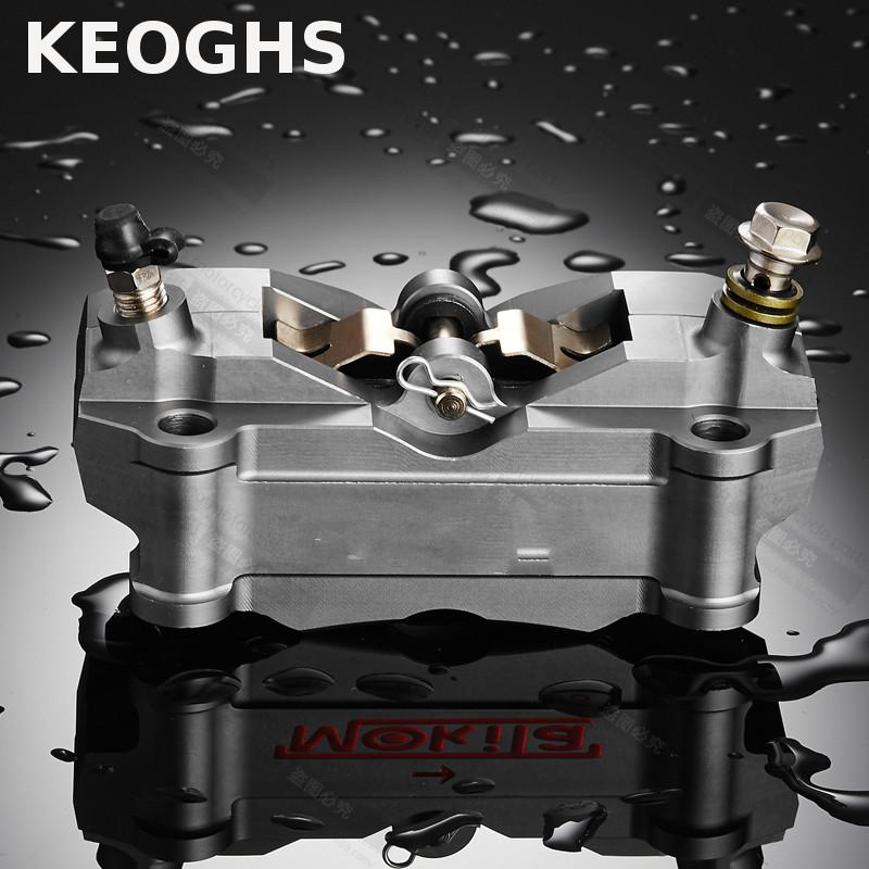 KEOGHS 100MM Brake Caliper 4 Piston High Quality Cnc Aluminum For All Motorcycle Modify For Honda Yamaha Kawasaki Suzuki keoghs motorcycle high quality personality swingarm swinging arm rear fork all cnc for yamaha scooter bws cygnus honda modify