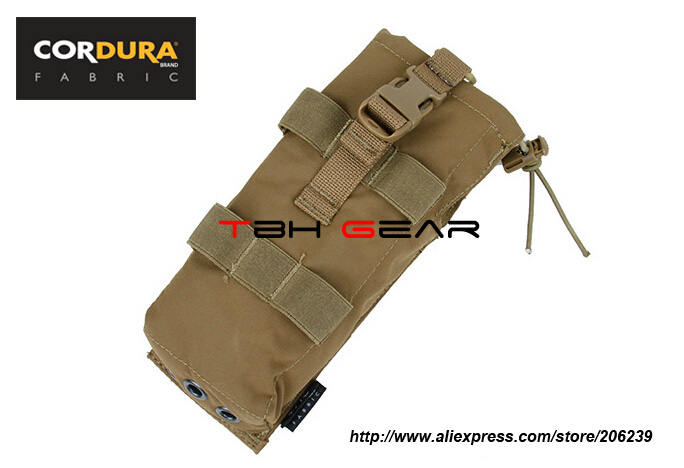 TMC Tilt Out MOLLE Military Tactical PRC152 MBTR Radio Pouch Coyote Brown+Free shipping(SKU12050827)