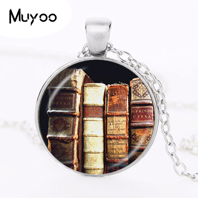 library book necklace gifts for librarians writers bibliophile book