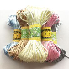 Light Baby Color 20 Meters Satin Nylon Cord Macrame Beading String 2.5mm Knitting Rope Chinese Knot Thread For Jewelry Making tyry hu 10m soft satin nylon multicolor cord solid rope for jewelry making beading cotton cord for baby 2mm diy necklace pendant