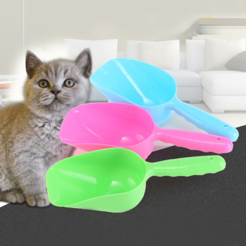 High Quality Pet Puppy Dry Food Spoon Plastic Hand Shovel Pets Measuring Scoop For Dog Cat Bird Accessories image