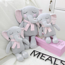 30/40cm Plush Elephant Doll Toy Kids Baby play Comforter Dolls Cute Stuffed Elephant Baby Accompany Doll Gift For children fluffy toy hidden cat hide and seek game baby animated stuffed elephant dolls m15