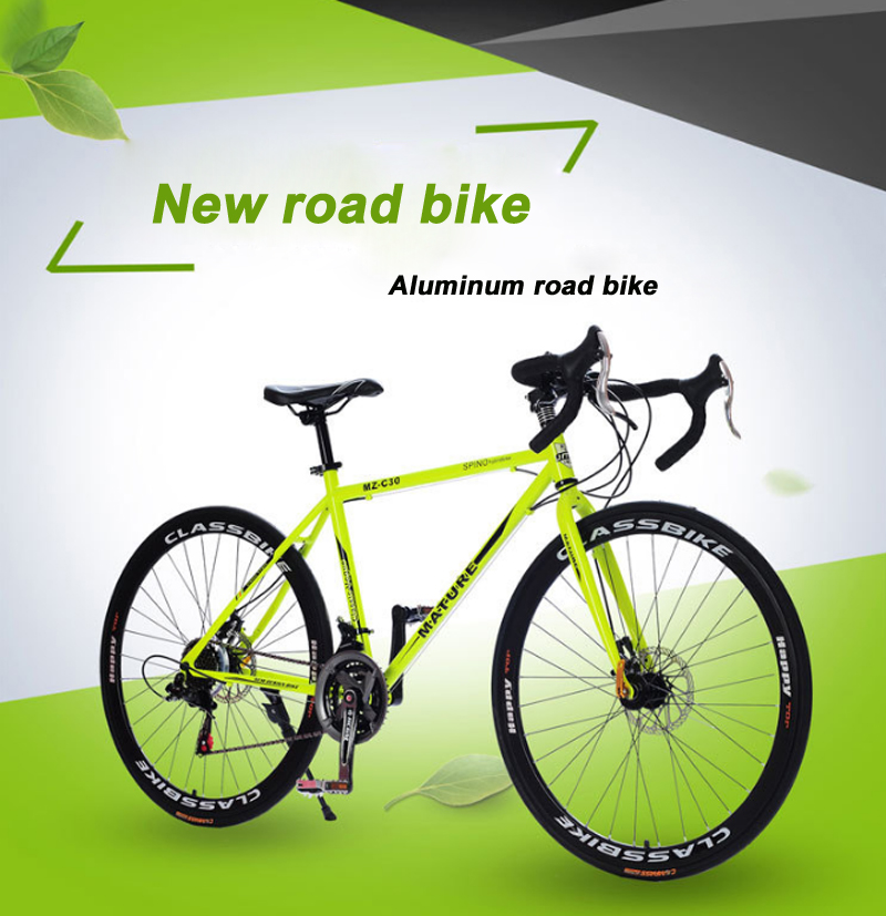 HTB1fFQHUgHqK1RjSZFPq6AwapXaL 700C road bike 21/27/30 variable speed bicycle bend handle double disc brake aluminum road bicycle Male and female bike