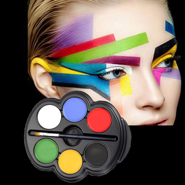 popfeel brand 1 set body paint palette kids festival halloween makeup face temporary painting pigment pallete - Halloween Pictures To Paint