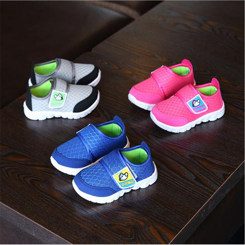 MHYONS 2018 New Summer Mesh Sneakers Baby Breathable Shoes Infantil Baby Girl & Boy Hook & Loop Soft Sole Net Sport Shoes A889