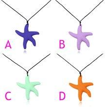 Moda Starfish Forma Colar de Pingente de Cadeia Longa Camisola Colares Lady Silicone Jóias Acessórios de Vestuário CX17