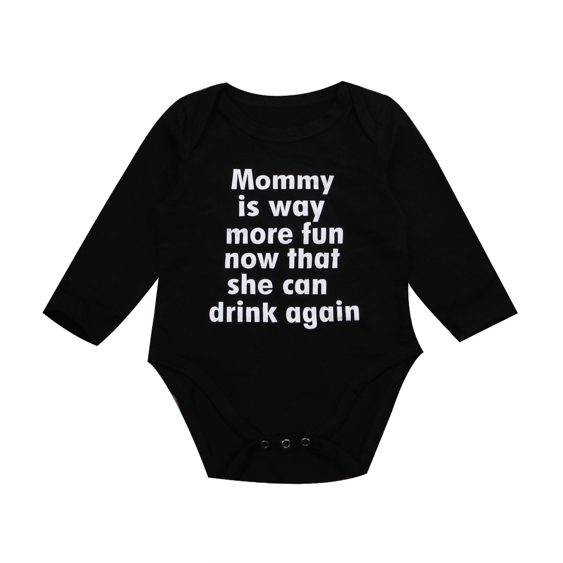 Newborn Infant Kids Baby Girl Boys Rompers Jumpsuit Clothes Outfits Letter Printed Long Sleeve Romper