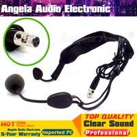 مصغرة xlr 3 دبوس موصل ta3f headworn ميكروفون ديناميكي سماعة mic microfone ل WH20TQG نظام اللاسلكي bodypack الارسال