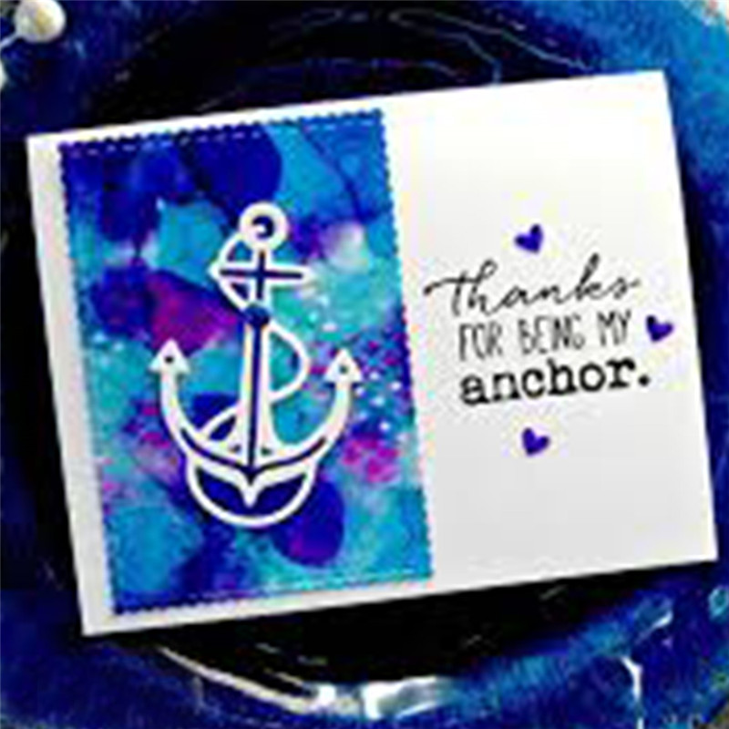 YaMinSanNiO Sea Anchor Metal Cutting Dies for Craft Scrapbooking Embossing Die Cut Card Making 2019 Decor