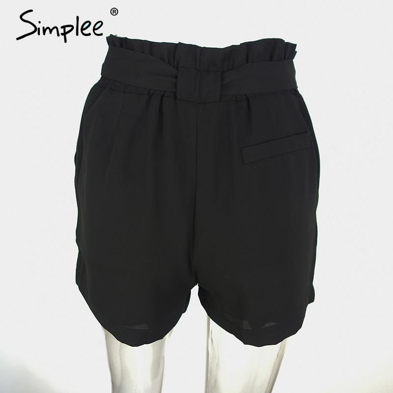 HTB1fFRENVXXXXctXpXXq6xXFXXXK - Chiffon shorts Bow high waist  belt PTC 94