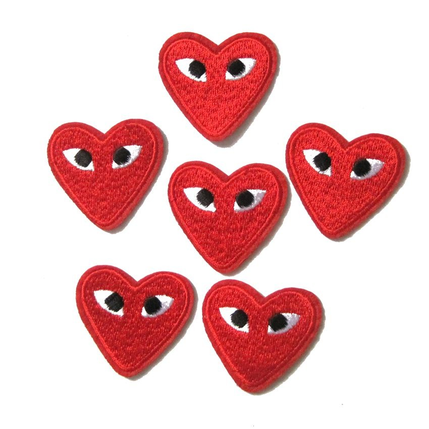 Red Heart Eyes Patches for Clothing