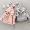Bebé 201 nuevo resorte de la capa de polvo capa de la capa 0-1-2-3 años bebé de algodón ropa gruesa capa del equipo del otoño fuera de la niñas