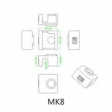 3D Printer Silicone Heater Block Covers for Replicator Anet a6 a8 i3 MK7 / MK8 / MK9