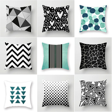 New Classic Geometry Pattern Sofa Cushion Cover Living Room Office Sofa Casual Waist Pillow Case Home Bedroom Decor Cushion Case unicorn cartoon car living room sofa bedroom cushion pillow case