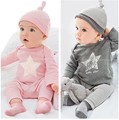 2015 new style baby clothing sets baby boy's cotton 3 pcs set hat+t-shirt+pants girl clothes casual dress next suit baby costume