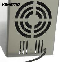 Vehemo Mini USB Cooler Warmer Fridge Desktop Cooling Refrigerator Beverage Can White