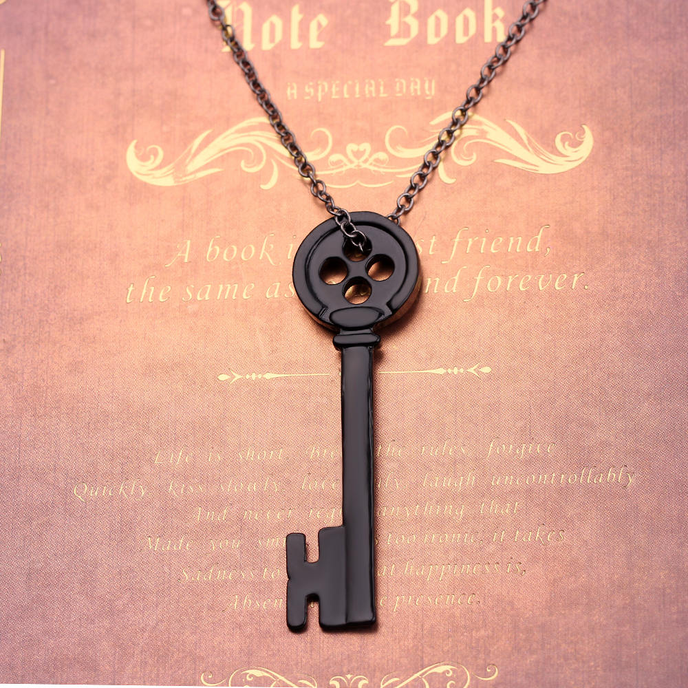 Vintage Black Key Pendant Necklace Movie Jewelry Coraline The Secret Door Necklace Neutral Jewelry For Men Women Collar Chain Buy At The Price Of 1 60 In Aliexpress Com Imall Com