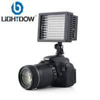 High Power Lightdow LD 160 160 LED Video Light Camera Camcorder Lamp with Three Filters for Cannon Nikon Pentax Fujifilm Cameras