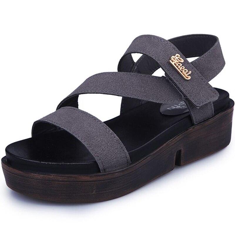 2017 Summer Hot Selling platform Women sandals thick bottom hook loop wedges Open-toed Design Shoes Woman phyanic 2017 summer women sandals platform wedges sandals hook
