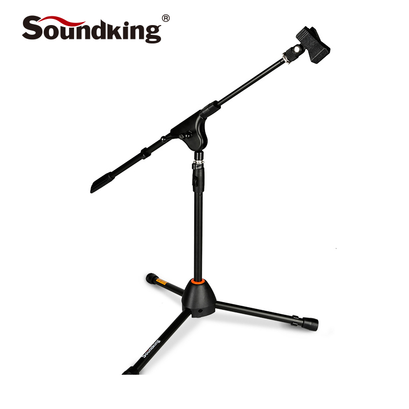 Soundking high quality small sound pickup microphone bracket tripod floor metal mic stand rotatable and foldable stand S19 fender amp stand small