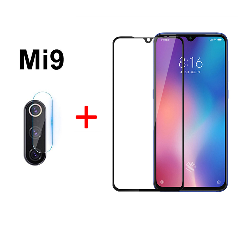 2-in-1 <font><b>Camera</b></font> Glass For <font><b>Xiaomi</b></font> Mi 9 Tempered Glass Screen <font><b>Protector</b></font> For <font><b>Xiaomi</b></font> Mi 9 <font><b>Mi9</b></font> Glass Film on Mi 9 <font><b>Mi9</b></font> Screen <font><b>Protector</b></font> image