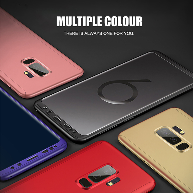 Luxury 360 Degree Full Cover Case For Samsung Galaxy S9 S8 Plus Note8 With Screen Protector Film For Samsung S8 S9 Phone Case