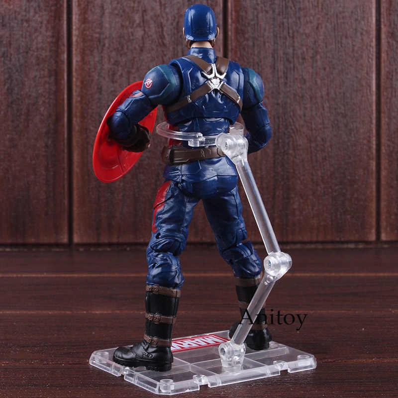 Фигурки супергероев Marvel Капитан Америка 3 Civil военные игрушки Капитан Америка ПВХ Коллекционная модель игрушки для мальчиков