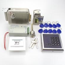 Полный 13.56 МГц система контроля доступа 500 пользователей MG236B модель + питание + электронное управление замок двери кнопка выхода + брелоков