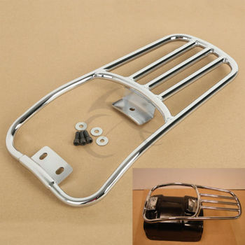 """Motorcycle 5.6"""" Rear Fender Luggage Rack For Harley Softail Deluxe 06-18 Fatboy 07-17"""