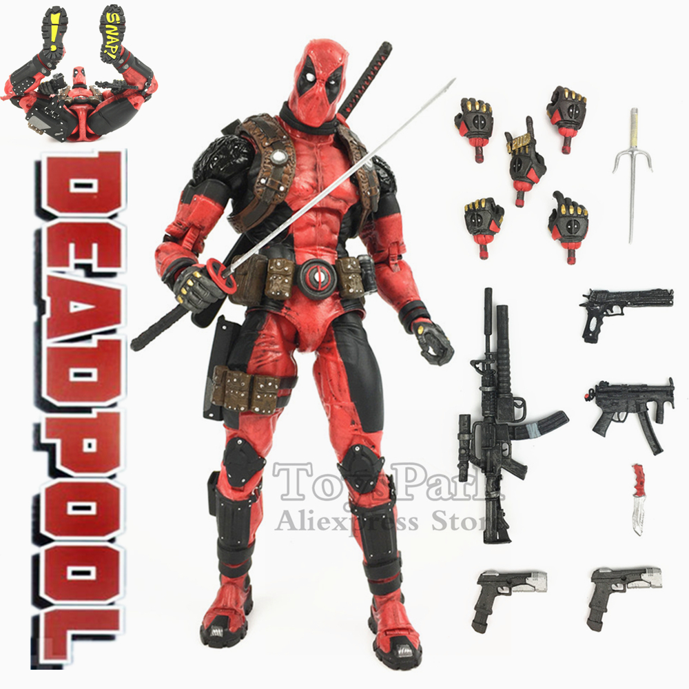 Marvel Classics 19cm Deadpool Action Figure PVC Doll Model KO's NECA 8 Ultimate Special Features Super Poseable Toys Collection ultimate marvel