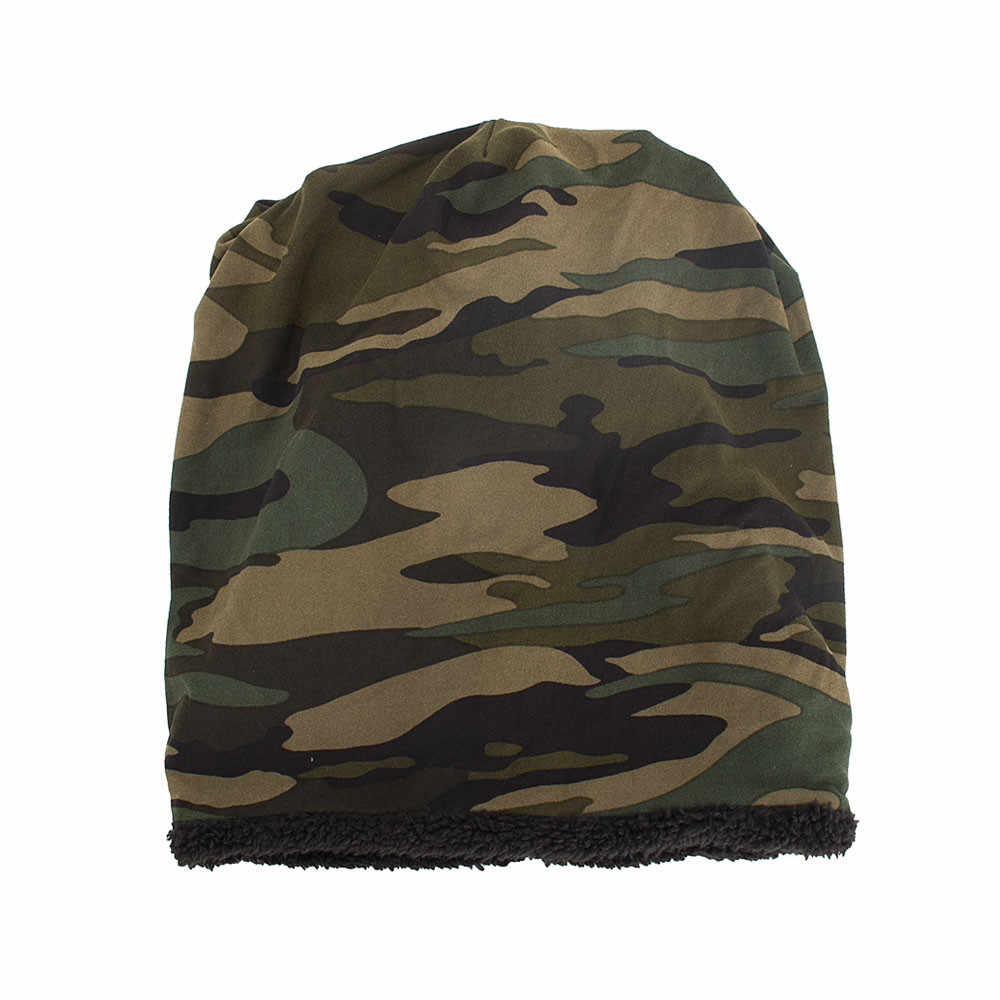 3289d23082f ... Women Men Hat Warm Baggy Camouflage Crochet Winter Wool Ski Beanie  Skull Caps Hat Hiking Caps ...