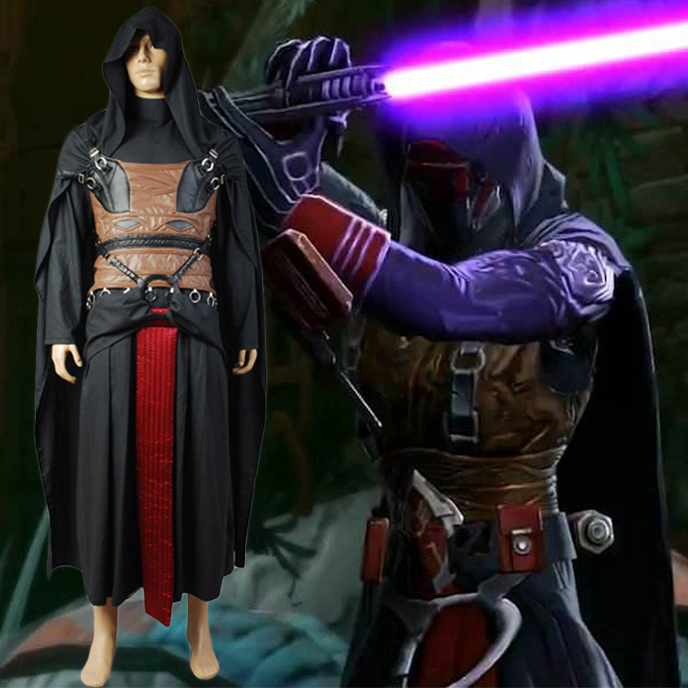 Star Wars Sith Dark Lord Darth Revan Cosplay Costume Uniform Outfit Cape Robe
