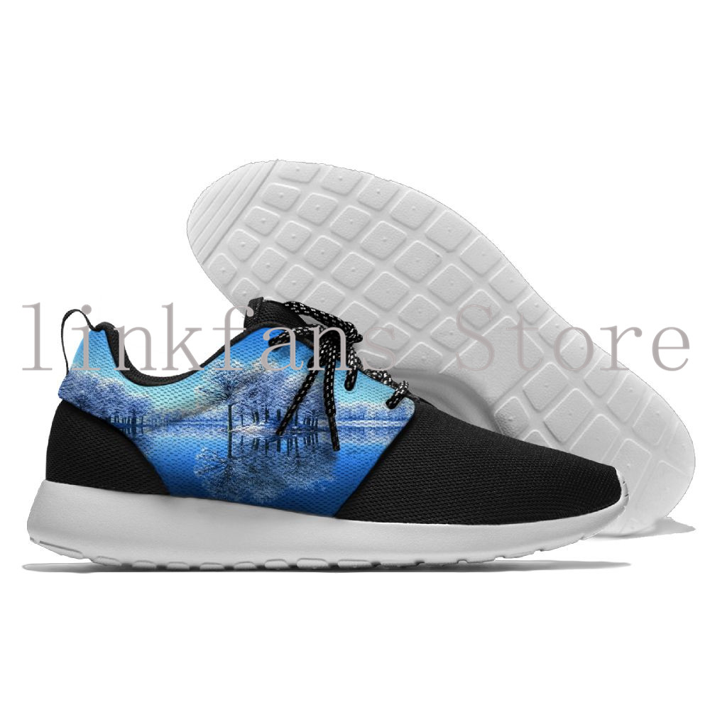 Fantasy Landscapes Free Run Shoes Outdoor Jogging Walking Light Weight 2018 New Design Mens Sneakers mesh Comfortable Shoes