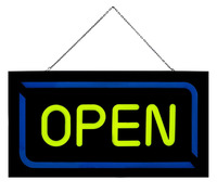 43 23cm Bright Led Open Sign Flashing Animated Neon Sign For Business Cafe Bar Pub Coffee
