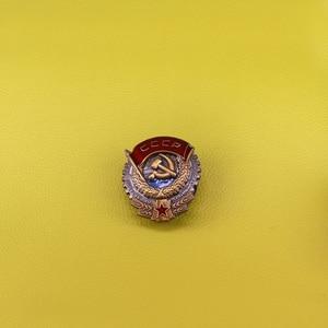 Image 1 - CCCP Soviet badge communist symbol brooch USSR 70s Lenin Komsomol propaganda USSR red star   pin hammer and sickle brooches vin