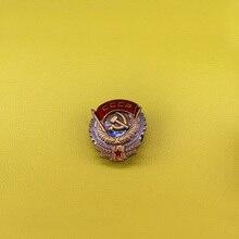 Cccpソビエトバッジ共産記号ブローチソ連 70sレーニンkomsomolプロパガンダソ連赤スターピンハンマーと鎌ブローチvin