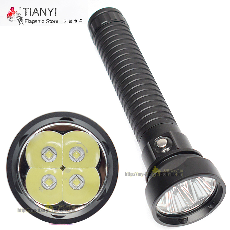 High led torch Waterproof 100m Light Led Torch DX4S Brightness LED Diving Flashlight 4x CREE L2 4L2 Underwater 18650 26650 Torch scuba diving flashlight dx4s underwater hunting torch waterproof dive lamp 4x cree xm l2 white light 18650 26650 led torch
