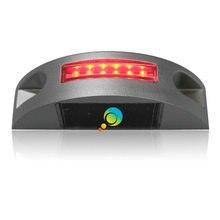Устойчивый режим высокого качества одна сторона дорога шпилька светодиодный ландшафтный светильник алюминиевый корпус красный светодиодный дорожный отражатель маркер