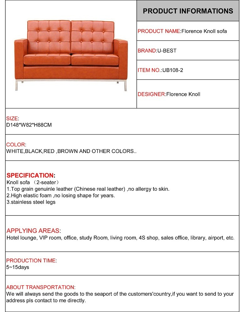florence knoll sofa 2 seater loveseat sofa leather sofa