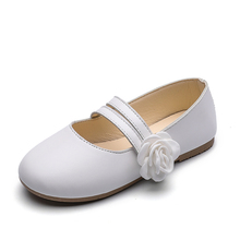 COZULMA Children Shoes for Girls Kids Shoes Princess Mary Jane Dress Leather Shoes Girls Flower Dance Party Shoes Soft Flats