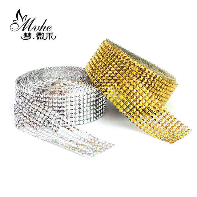 Pyramid Diamond cone Taper Crystal mesh Roll birthday Wedding gift lamp  Cake Wrap DIY Decoration event party Ribbons Tape tulle 6ff91b48ca47