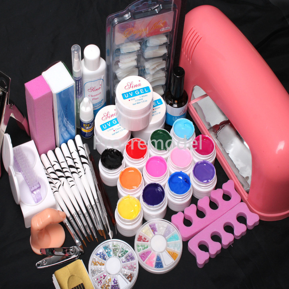 pro tube lamp timer dryer pure color uv gel practice finger nail art tools set kits russia in. Black Bedroom Furniture Sets. Home Design Ideas