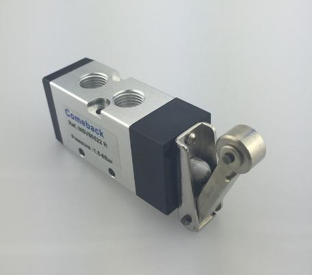 free shipping 1pcs  Pneumatic  Type MSV 86522R Mechanical Valve, 5 port 2 position 1/4 Thread Roller Type, MSV-86522-R